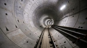 The first of two tunnels for the Regional Connector is shown in an undated photo. (Credit: Al Seib / Los Angeles Times)