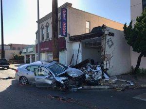 Gardena police released this photo of the crash scene on Dec. 21, 2017.