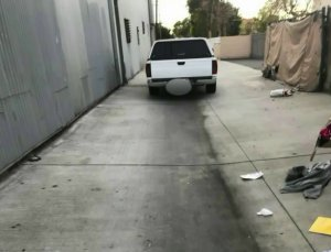 Taylor O'Neill took this photo of a truck used in a attempted sexual assault in Santa Ana on Dec. 18, 2017.