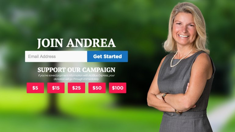 An image from Andrea Ramsey's campaign website.