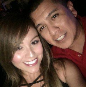 "Angela Ochoa with her fiancé, Border Patrol agent Rogelio ""Roger"" Martinez, who died on the job in November. (Courtesy: Angela Ochoa)"