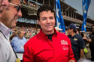 Papa John's founder and CEO John Schnatter attends the Indy 500 on May 23, 2015, in Indianapolis. (Credit: Michael Hickey/Getty Images)