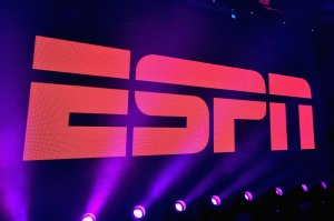 A view of the logo during ESPN The Party on February 5, 2016 in San Francisco. (Credit: Mike Windle/Getty Images for ESPN)