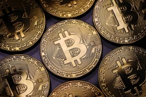A visual representation of the digital cryptocurrency, Bitcoin, on Dec. 07, 2017 in London. (Credit: Dan Kitwood/Getty Images)