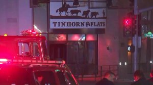 An explosion at a restaurant in Hollywood prompted a massive response from fire and police on Dec. 20, 2017. (Credit: KTLA)