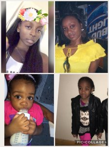 Clockwise from top left: Shawntay Young, Karen Francis, Kylie Francis and Kelesha Francis, four of the 12 victims killed in a Bronx apartment fire, are seen in photos provided by the family on Dec. 29, 2017. (Credit: WPIX)