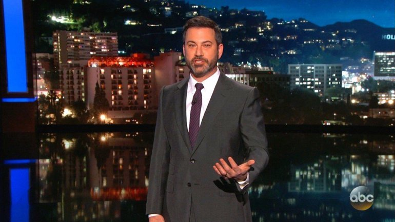 """Jimmy Kimmel, host of ABC's """"Jimmy Kimmel Live!"""", is seen in a file photo from the show. (Credit: ABC)"""