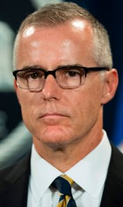 As acting director of the Federal Bureau of Investigation, Andrew McCabe speaks during a press conference at the U.S. Department of Justice in Washington, D.C., on July 13, 2017. (Credit: Jim Watson/AFP/Getty Images)