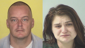 Jason Fletcher, left, and Ciera Richter are seen in booking photos released by the Ohio Department of Rehabilitation & Correction.