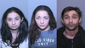 Barbara Adams, Valerie Siganoff and Nino Siganoff are seen in booking photos provided by the Orange County Sheriff's Department on Dec. 21, 2017.