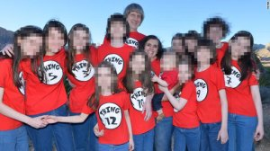 "An image obtained by CNN shows the Turpin family in matching T-shirts like characters ""The Cat in the Hat."""