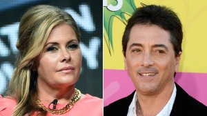 From left: Actress Nicole Eggert is seen at a Summer Television Critics Association in Beverly Hills on July 9, 2014, and actor Scott Baio is seen at the Kids' Choice Awards in Los Angeles on March 23, 2013. (Credit: Frederick M. Brown / Frazer Harrison / Getty Images)