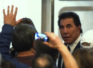 Steve Wynn arrives at a caucus night watch party for Republican presidential candidate Donald Trump at the Treasure Island Hotel and Casino on Feb. 23, 2016 in Las Vegas, Nevada. The New York (Credit: Ethan Miller/Getty Images)