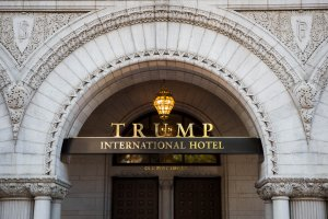 The Trump International Hotel, Washington is pictured before its grand opening on Oct. 26, 2016 in Washington, D.C (Credit: ZACH GIBSON/AFP/Getty Images)