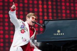Elton John performs live at Twickenham Stoop in London, England, on June 3, 2017. (Credit: Ian Gavan / Getty Images for Harlequins)