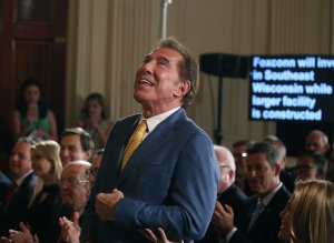 Steve Wynn, CEO of Wynn Resorts, is acknowledged at a news conference held by President Donald Trump in the East Room of the White House on July 26, 2017. (Credit: Mark Wilson / Getty Images)