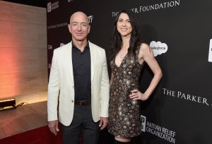 """Amazon CEO Jeff Bezos and his wife, MacKenzie Bezos, donated $33 million to fund """"Dreamer"""" scholarships. (Credit: Michael Kovac/Getty Images for J/P HRO Gala)"""