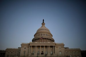 The U.S. Capitol is seen on January 19, 2018. (Credit: Aaron P. Bernstein/Getty Images)