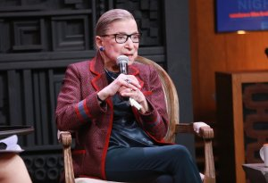 Associate Justice of the Supreme Court of the United States Ruth Bader Ginsburg speaks in an event held during the Sundance Film Festival in Park City, Utah, on Jan. 21, 2018. (Credit: Robin Marchant / Getty Images)