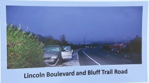 A posted displayed by LAPD Jan. 24, 2018, shows a vehicle involved in a 2014 hit-and-run that killed Paul Grover. (Credit: KTLA)