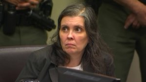 Louise Turpin is seen during her arraignment in Riverside on Jan. 18, 2018. (Credit: pool)