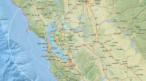 A 4.5 magnitude earthquake that shook the Bay Area on Jan. 4, 2017, is seen in a map provided by the U.S. Geological Survey.