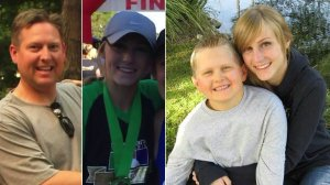 The Birnkrant family, from left: Michael, Amy, Drew and an 11-year-old son, are seen in photos shared by friends and on social media.