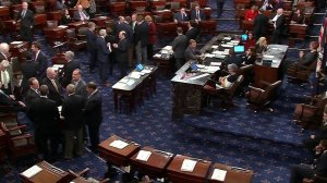 Votes were cast on the Senate floor as lawmakers worked to avert a government shutdown on Jan. 19, 2018. The vote failed, triggering the shut down. (Credit: CNN)