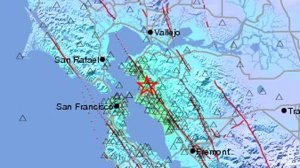 Weak to moderate shaking was reported throughout the Bay Area and as far as 150 miles away from the Berkeley area, where the quake hit. (Credit: U.S. Geological Survey)