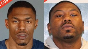 Gerald Turner, left, and Quinton Brown III are seen in booking photos released July 27, 2017, by the Los Angeles County Sheriff's Department.