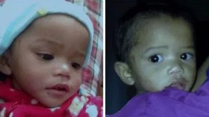 Police released two photos of Setina Weddles, one of the missing twin toddlers out of Stockton.