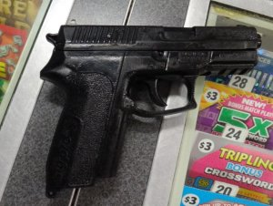 The Sheriff's Department released this photo of the replica weapon.