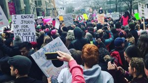 A crowd gathers in Pittsburgh, Penn. to participate in the Women's March on Jan. 21, 2018. (Credit: Ashlee Christensen via CNN)