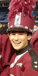 Alex Schachter is seen taking part in the school marching band and orchestra. (Credit: Facebook/Lisa Jackson Nesmith via CNN)