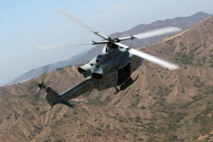 A UH-1Y Venom helicopter, the type of aircraft involved in the critical injury of a sailor at Marine Corps Air Station Camp Pendleton, is seen in an image from Aug. 28, 2008, released by the U.S. Marine Corps.