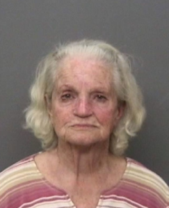 Betty Frances Sanders is seen in this booking photo provided by the Shasta County Sheriff's Office.