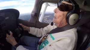 Beverly Beesemyer's dream of flying a plane came true recently when she flew with KTLA reporter Christina Pascucci. (Credit: KTLA)