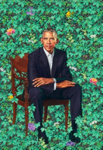 """Barack Obama"" by Kehinde Wiley was unveiled at the National Portrait Gallery on Feb. 12, 2018."