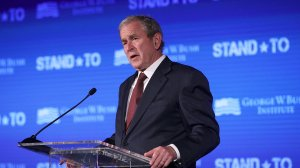 Former President George W. Bush speaks during a conference at the U.S. Chamber of Commerce June 23, 2017 in Washington, DC. (Credit: Alex Wong/Getty Images)