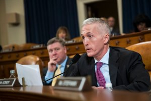 Rep. Trey Gowdy (R-SC) questions witnesses during a House Permanent Select Committee on Intelligence hearing concerning Russian meddling in the 2016 United States election, on Capitol Hill, March 20, 2017, in Washington, D.C. (Credit: Drew Angerer/Getty Images)