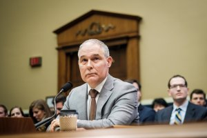 Environmental Protection Agency Administrator Scott Pruitt testifies before the House Energy and Commerce Committee about the mission of the U.S. Environmental Protection Agency on December 7, 2017 in Washington, DC. (Credit: Pete Marovich/Getty Images)