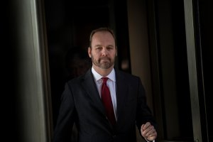 Former Trump campaign official Rick Gates leaves Federal Court on Dec. 11, 2017, in Washington, D.C. (Credit: Brendan Smialowski/AFP/Getty Images)