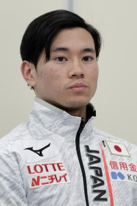 Kei Saito attends a press conference following the announcement of the Japan Short Track Speed Skating Team for the PyeongChang 2018 Winter Olympic Games after the 40th All Japan Short Track Speed Skating Championships at Nippon Gaishi Arena on Dec. 17, 2017, in Nagoya, Aichi, Japan. (Credit: Kiyoshi Ota/Getty Images)