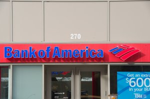 A Bank of America sign is seen in Chelsea, New York on January 8, 2018 in New York. (BRYAN R. SMITH/AFP/Getty Images)