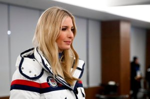 Ivanka Trump leaves following the closing ceremony of the Pyeongchang 2018 Winter Olympic Games at the Pyeongchang Stadium on February 25, 2018. (Credit: PATRICK SEMANSKY/AFP/Getty Images)