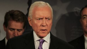 Sen. Orrin Hatch is seen speaking in this undated file photo from CNN.