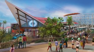 """One of the new Pixar Pier neighborhoods will be inspired by """"The Incredibles."""" (Credit: Disney-Pixar)"""