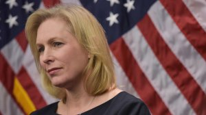 Senator Kirsten Gillibrand (D-NY) listens to a speaker during a press conference to announce a new medical marijuana bill at the U.S. Capitol on March 10, 2014, in Washington, D.C.(Credit: MANDEL NGAN/AFP/Getty Images)