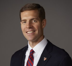 Conor Lamb is seen in a campaign photo. (Credit: CNN)