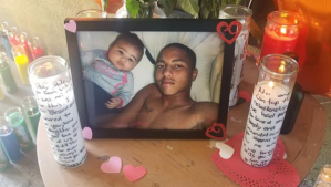 """A photo posted by Black Lives Matter LA shows an image of Anthony """"TR"""" Weber on Feb. 5, 2018, a day after he was fatally shot by a sheriff's deputy."""
